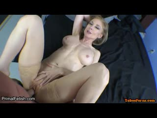 Nina is a seductive blonde woman who likes to put on erotic lingerie and suck cock
