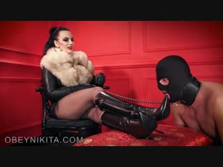 Mistress Nikita: Suck My Boot Like A Cock