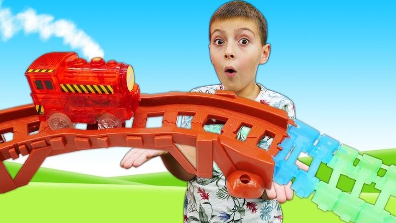 Расти механик в Автомастерской - Новая трасса для машин - Видео про игры для детей.