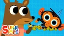Ms. Squirrel's Nutty Problem | Mr. Monkey, Monkey Mechanic | Cartoons For Kids