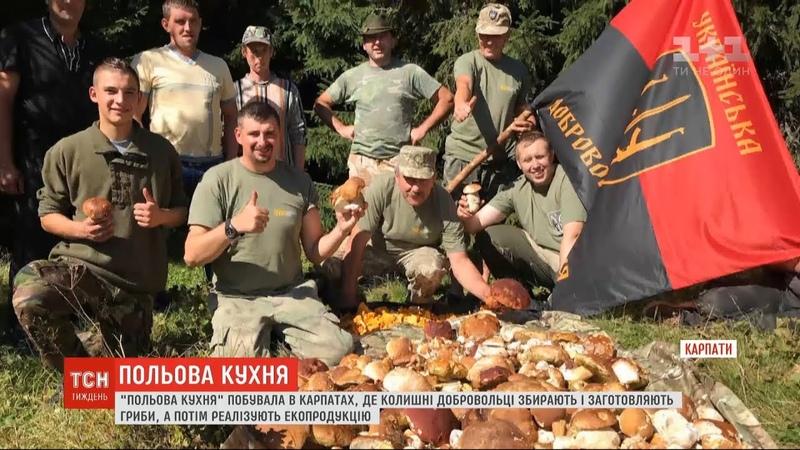 Польова кухня: як збирання та реалізація грибів допомагають воїнам реабілітуватися після війни