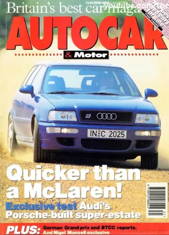 1994 Audi Avant RS2 — Авто подарившее жизнь Порше, изображение №12