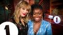 Taylor Swift talks music politics and life with Radio 1's Clara Amfo