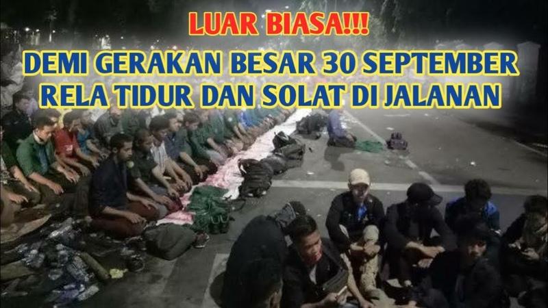 BERITA TERBARU HARI INI ~30 September 2019~ MAHASISWA TIDUR DI JALANAN DEMI 30 SEPTEMBER