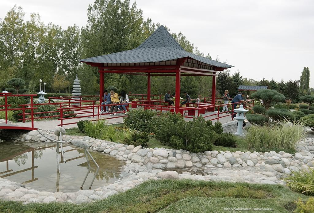 Японский сад в Парке Первого Президента, Алматы 2019