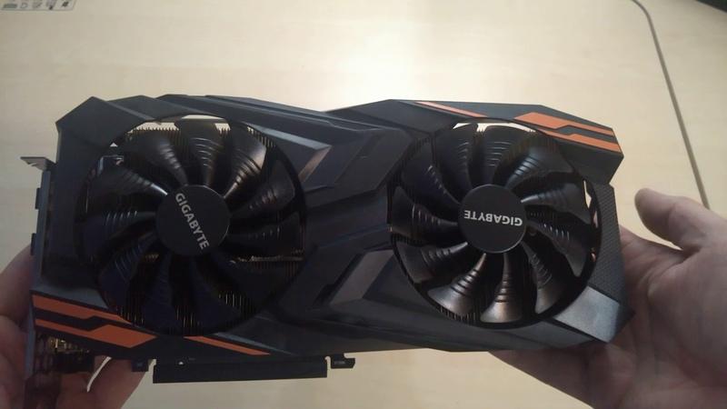 Распаковка неудачной версии Vega 56 - GIGABYTE Radeon RX Vega 56 Gaming OC 8. Периодически зависает с чёрным экраном и 100% оборотами вентилятора.