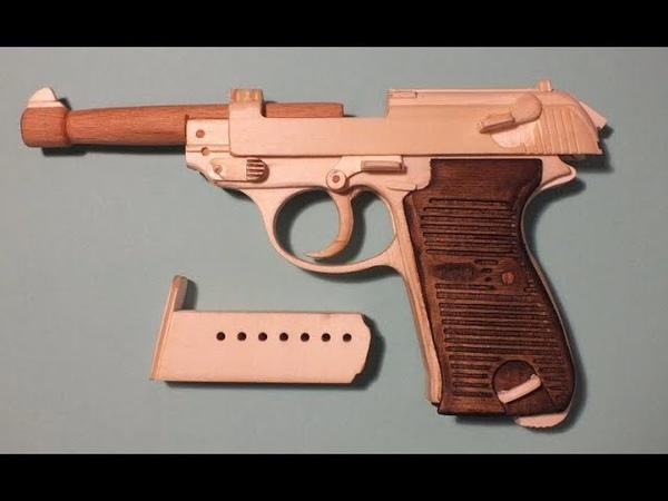 P.38 rubber band gun PART 3 test shooting