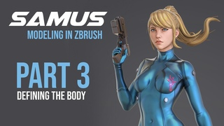 Sculpting Samus Zero in ZBRUSH PART 3 (Defining the body part 1)