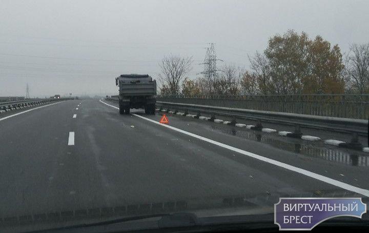 Сразу несколько аварий произошло на трассе М1 недалеко от Барановичей