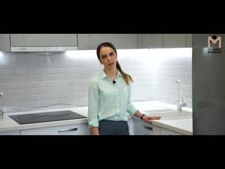 Обзор кухни на Поморской 26 . Мебель на заказ в Архангельске, Северодвинске и Новодвинске . Кухня на заказ .