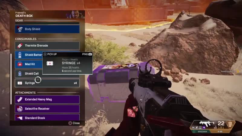 New bug you can make the loot come to you