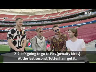 Imagine Dragons predict a UCL final that ends with penalties!