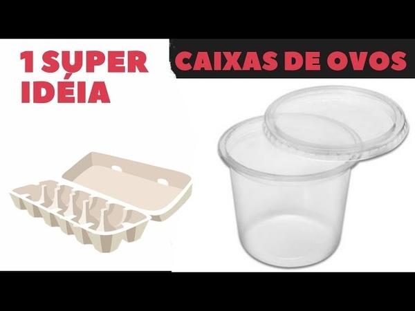 1 Super IDÉIA RECICLADA para Fazer enquanto não podemos sair de casa Reaproveitar Caixas de Ovos
