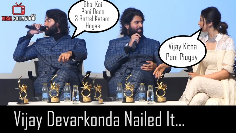 Vijay Devarkonda Nailed It... Cute Moment On Stage Asking For Water 😂😂😂
