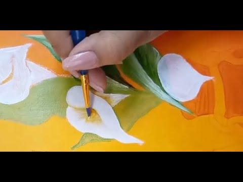 Pintura Acrilica Como Pintar Alcatraces