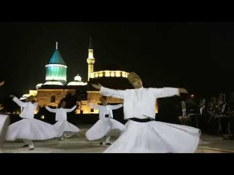 Whirling Dervish sema dance at the Konya Mevlana Museum in Turkey