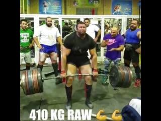 Становая тяга 410 кг, зверь