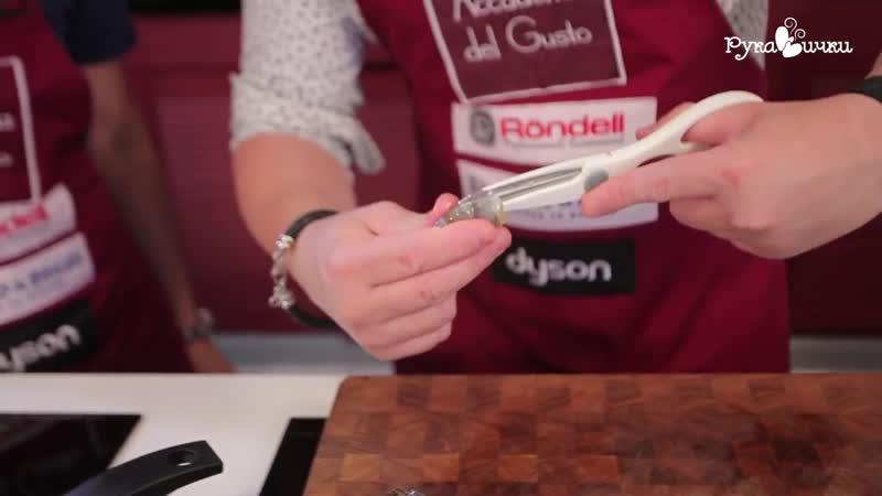 ВЫСОКАЯ КУХНЯ САЛАТ С КРЕВЕТКАМИ ОТ ШЕФА рецепт рукавички манифтв
