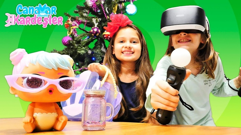Çocuk oyun videoları. Canavar Kardeşler. Selin Yılbaşı hediyeleri açıyor. LOL Surprise
