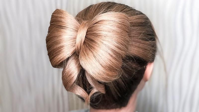 🌿КРАСИВАЯ ПРИЧЕСКА БАНТ НА 1 СЕНТЯБРЯ / ВЫПУСКНОЙ / ПОСЛЕДНИЙ ЗВОНОК🌿 Bow Hairstyles 🌿 ©LOZNITSA