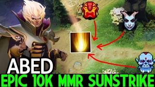 ABED [Invoker] Epic 10K MMR Sunstrike 28 Kills Destroy Pub Game  Dota 2