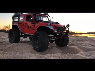 Scale Jeep on sand by the  is a Jeep+RC models
