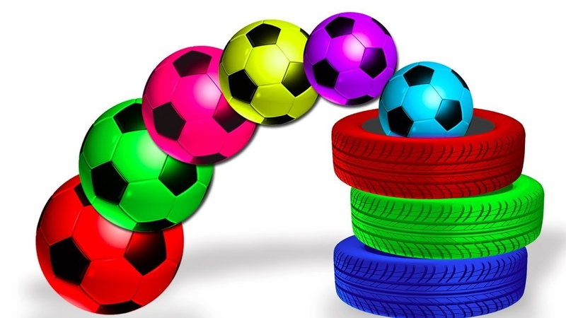 Aprende los Colores con un Camioncito Pateando Balones de Futbol HooplaKidz en Español