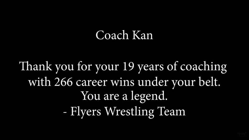 Wrestling Coach Retirement Ceremony - Tribute to Coach Kan Flyers Wrestling - FHS Wrestling