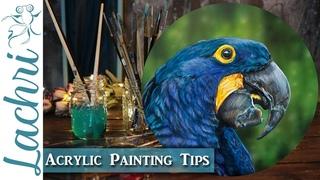 Acrylic painting tips - Realistic Bird - Lachri
