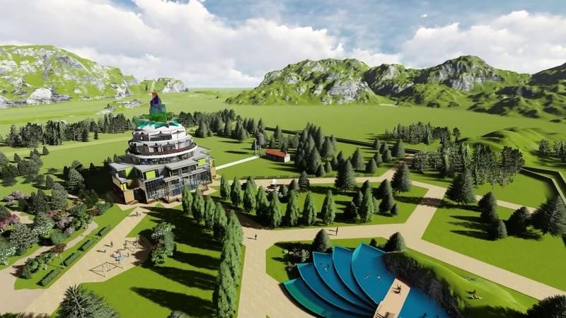 Модель строительства Йога Храма Шри Трипура
