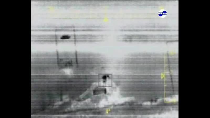 Ми 28Н стреляет ПТУРами по мишени используя тепловой канал