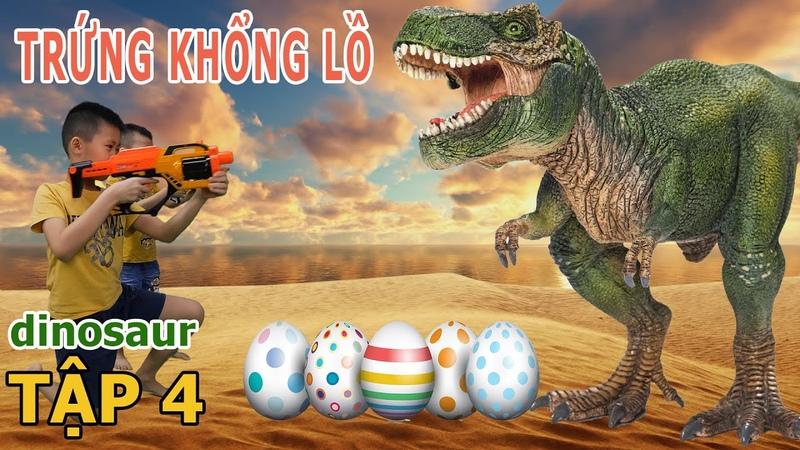 4 dinosaur Trứng Khủng Long Khổng Lồ Jurrasic World 3 in Real Life T Rex is Back 2KK TV