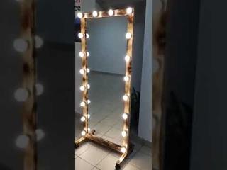 Гримерное Зеркало loft на подставке с колёсами