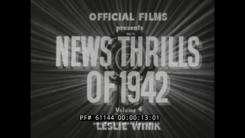 OFFICIAL FILMS NEWS THRILLS OF 1942 VOL 4 OP TORCH NORTH AFRICA RUSSIAN FRONT SILENT 61144