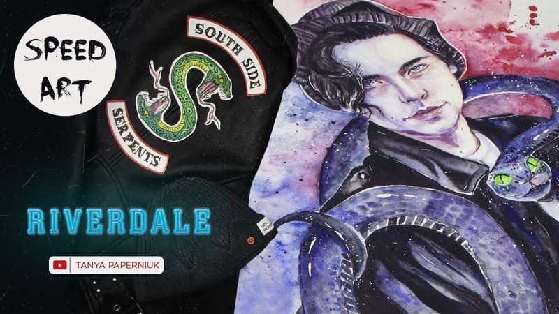 RIVERDALE - Jughead [speed painting] Cole Sprouse Ривердейл / Джагхэд / Коул Спроус