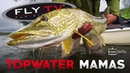 FLY TV Topwater Mamas Pike Fly Fishing in the Mountains