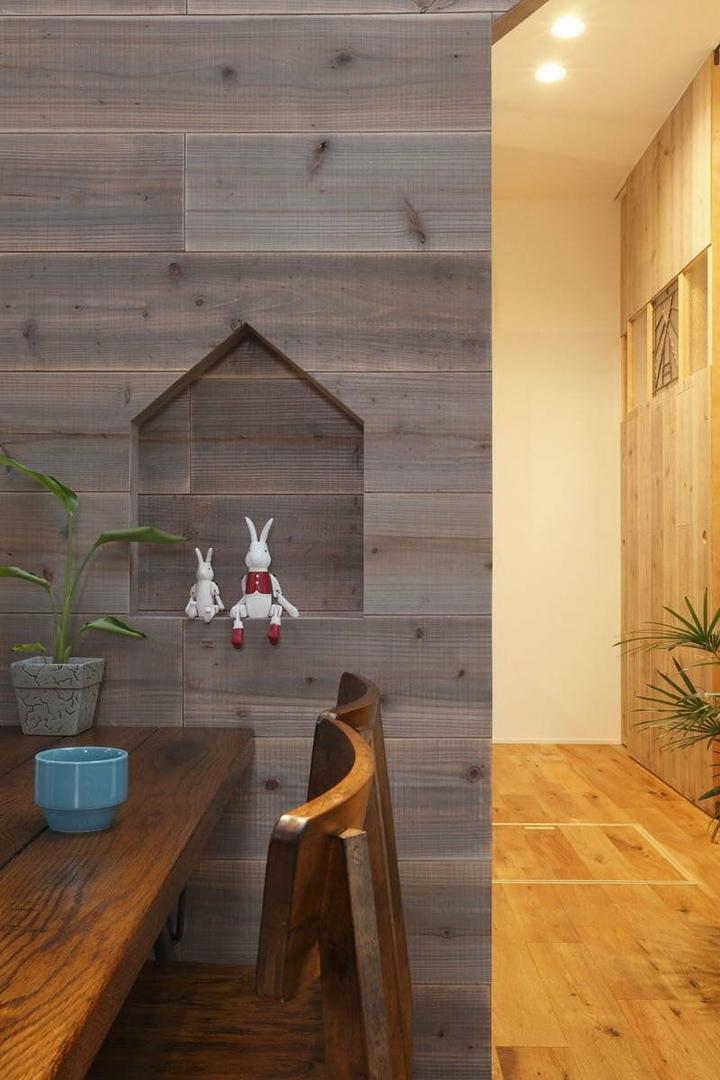 Необычный интерьер современного дома в Японии