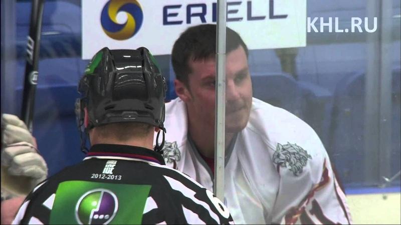 Драка КХЛ Гиллис против Ивананса KHL fight Gillies vs Ivanans