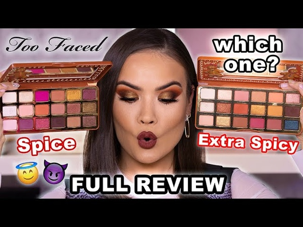 NEW* TOO FACED GINGERBREAD PALETTE SPICE EXTRA SPICY REVIEW   Maryam Maquillage