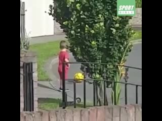 His mum told him not to go on the road to take the ball