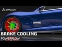 Brake Cooling Flow and Temperature | SIMULIA PowerFLOW