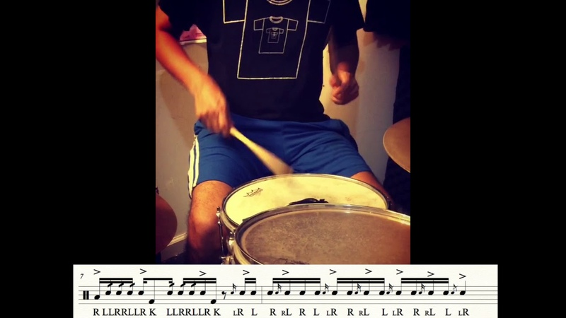 DRUMS - Flams and Doubles Etude - Flam de Frambuesa - Drum Etude 14