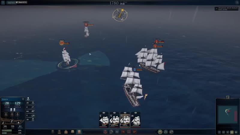 JeKaa Ultimate Admiral Age of Sail прохождение Буря 4