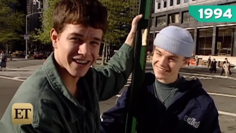 FLASHBACK_ Mark Wahlberg and Leonardo DiCaprio Are BFFs on the Set of Basketbal