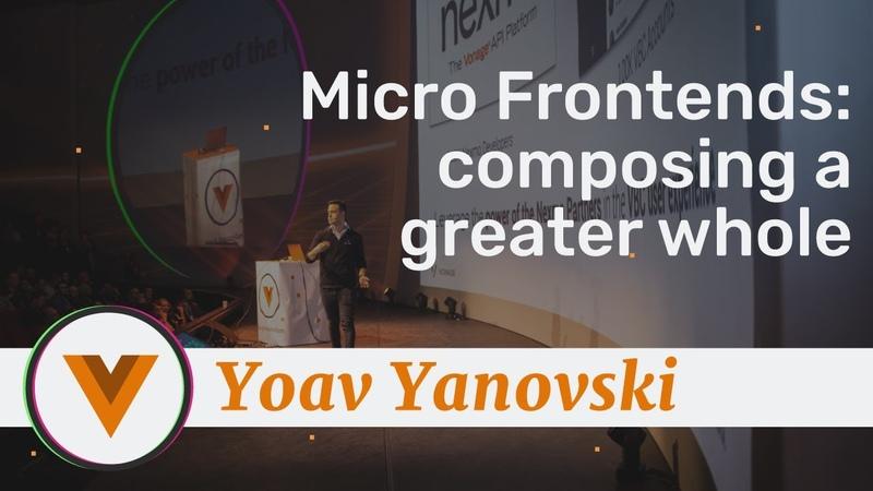 Yoav Yanovski - Micro Frontends Composing a Greater Whole - Vue.js Amsterdam 2020
