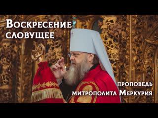 Воскресение словущее - проповедь митрополита Меркурия 26/09/19