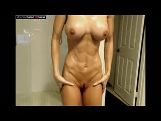 Fitness girl, solo, muscular girls, big clit,pussy, masturbation, web,