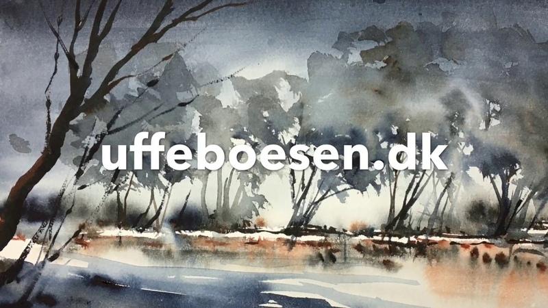 Landscape indigo burnt sienna Watercolor tutorial 2018