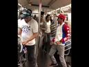 Kid the wiz and he's Squad WAFFLENYC dancing on the train