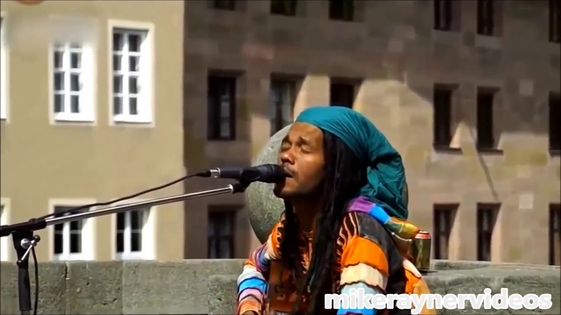 Best street busker singer, i love you more than i can say, amazing acoustic reggae music